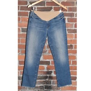 NWOT MOTHER Rascal Crop Maternity Jeans Size 30